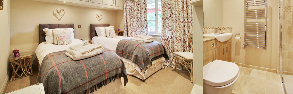 Driftwood - Twin bedroom - Church Lodge B&B, Birdham