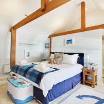 Sandbank double bedroom. Church Lodge B&B, Birdham.